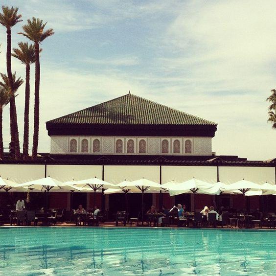 Pool Pavilion at La Mamounia Hotel, Marrakech