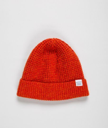 Norse Projects Kaupang Hunter Beanie. Obeeeee should get me a beenie like this.