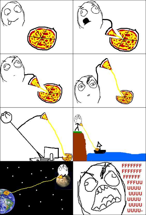 meme comics pizza | Wenn ich Pizza esse - fu bilder, Englische Rage Comics und Memes ...