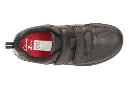 Clarks ReflectAce Jnr - Black Leather - Boys School Shoes | Clarks