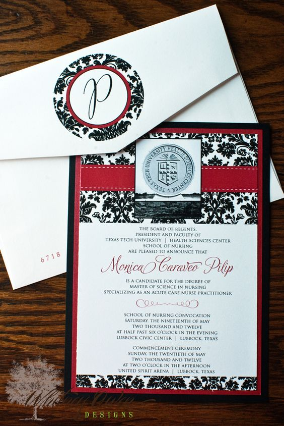 Texas tech invitation lets graduate pinterest texas tech texas tech invitation filmwisefo