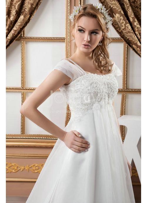 Empire waist plus size wedding dress 2013 this definitely for Plus size empire wedding dress