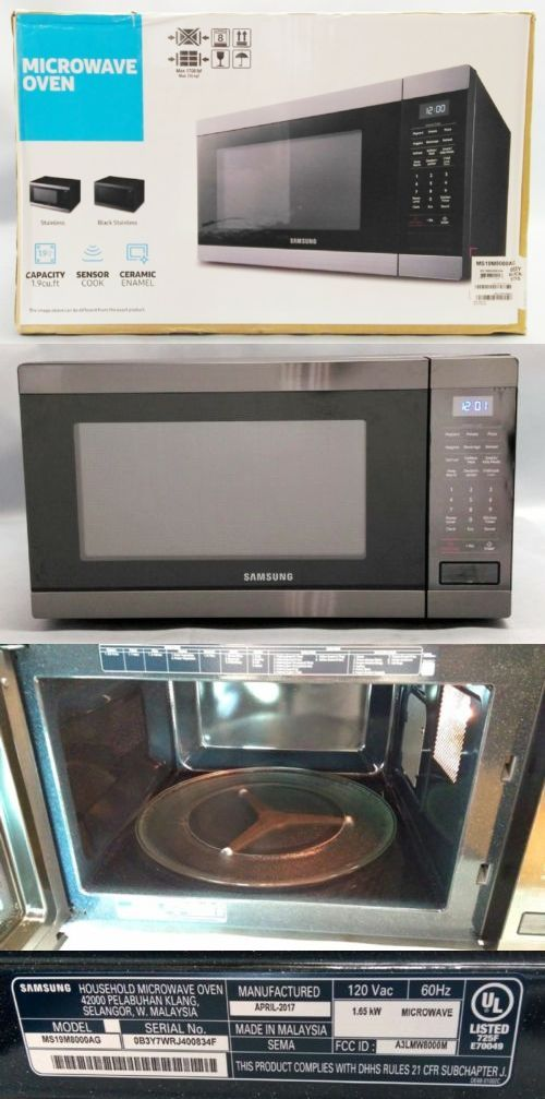 Microwave Ovens 150140 Samsung Ms19m8000ag 1 9 Cf 950w Black