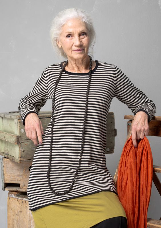Striped tunic in eco-cotton/wool – Basic Fall 2015 – GUDRUN SJÖDÉN – Webshop, mail order and boutiques | Colorful clothes and home textiles in natural materials.