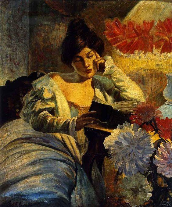 La lettura, 1905. Evangelina Gemma Alciati (Italian, 1883-1959).: