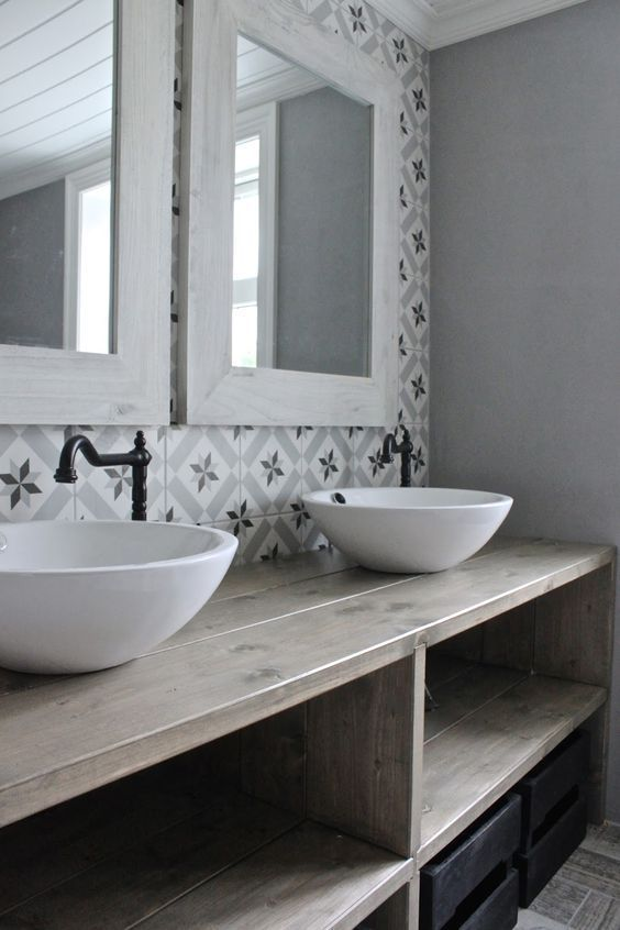 salle-de-bain-carreau-ciment | Deco salle de bain, Salle de ...