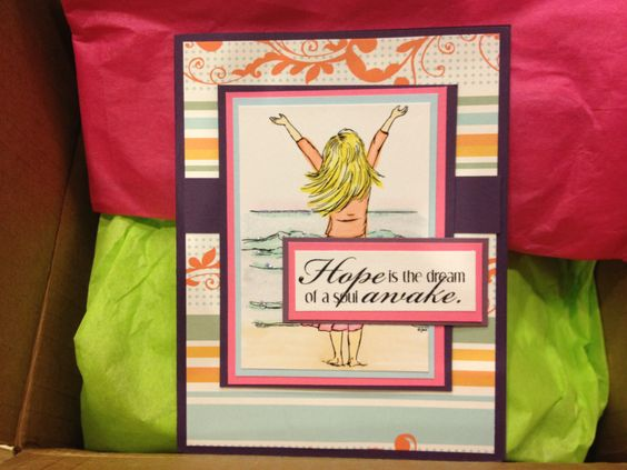 care package and handmade card! | Cards, Cancer | Pinterest | Care