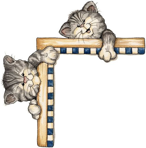 laurie furnell kitty cat corner accent framesborders