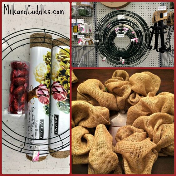 Those pre-made wreaths at craft stores, and department stores can cost a pretty penny. Why not create your own Valentines Day wreath? And better yet - why not use one of the hottest and most trendy materials out there, for a perfectly shabby chic country look? Burlap!