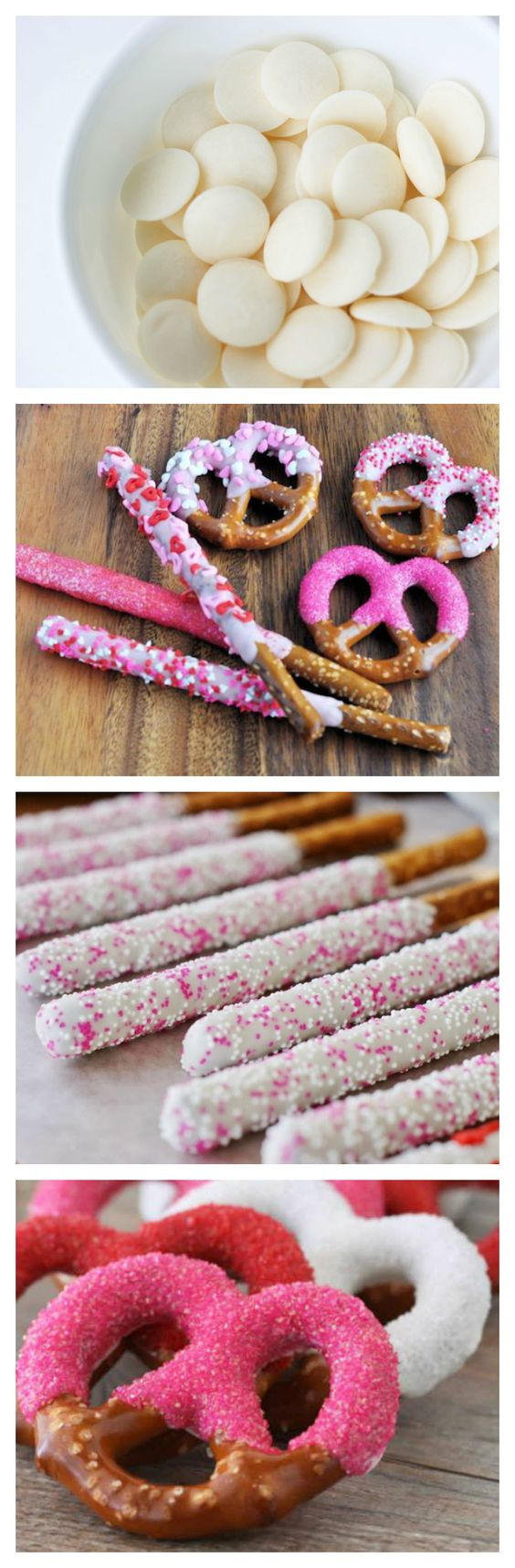 Candy dipped pretzel's for Valentine's Day. <3