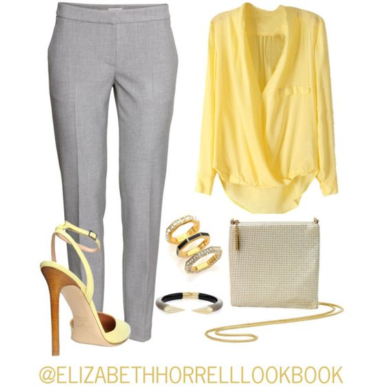 LIZ by elizabethhorrell on Polyvore featuring moda, H&M, Gibellieri, Whiting & Davis and Marc by Marc Jacobs