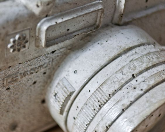 Concrete Vintage Camera Reproduction  by Reconsiderit, $50.00