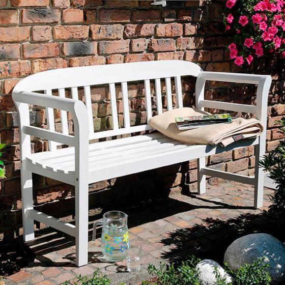 Garten Sitzbank Friesland Weiss 120 Cm Online Kaufen Bei Gartner Potschke Gartenbank Holz Gartenlaube Gartenbank