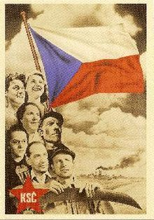 Old communist party of Czechoslovakia, disbanded in 1992 when the revolution took place.