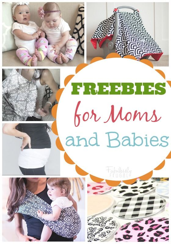 FREEBIES for New Moms:  Carseat Canopy, Udder Covers, Baby Slings, Maternity Bands, Baby Leggings and Nursing Pads