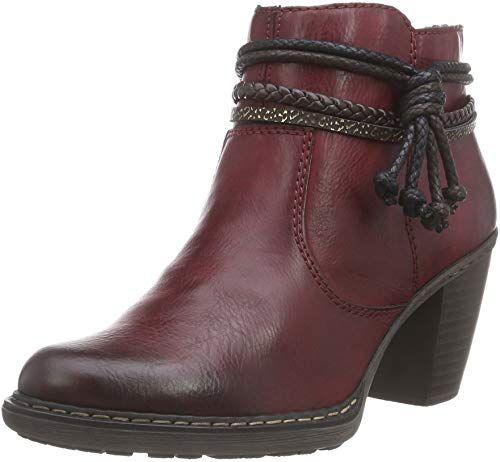 Best Seller Rieker Women Ankle Boots red, (Winetestadimoro