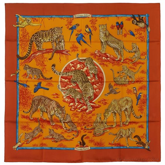 hermes messenger bags - NEW Authentic Hermes Silk Scarf TENDRESSE FELINE Robert Dallet ...