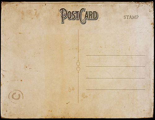 vintage postcard template back 2 – Free Postcard Templates for Word