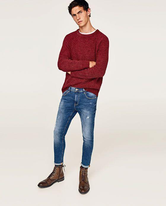 Zdjecie 1 Spodnie Jeansowe Rurki O Kroju Marchewkowym Z Zara Jeans Fit Denim Photoshoot Mens Shoes Boots