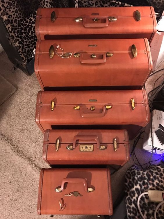 Details about VINTAGE SAMSONITE 5 PIECE LUGGAGE | Vintage and eBay
