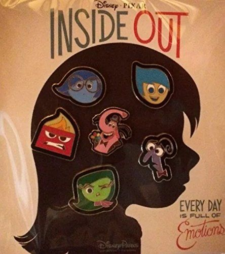 Disney-Pixar Inside Out 6 Pin Starter Set includes Sadness, Fear, Anger, Disgust, Joy, and  Bing Bong: