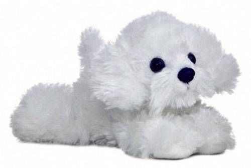 8 Aurora Plush White Bichon Frise Puppy Dog Mini Flopsie Stuffed