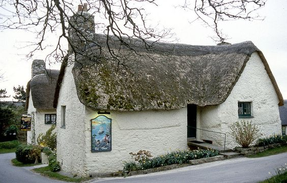 Smugglers Den. Trebellan. Cornwall   (see 'celtic house')
