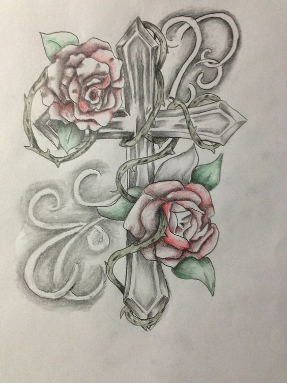 cross tattoo my original art pinterest the rustic cross tattoos and the o 39 jays. Black Bedroom Furniture Sets. Home Design Ideas