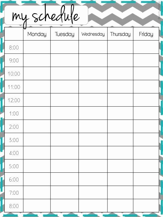 Weekly College Schedule Template Inspirational Make It Look Good