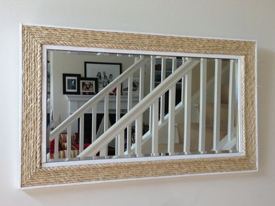 Natural Nautical Rope Mirror by TimeAndTideDecor on Etsy, $105.00