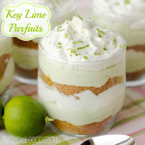Get in my mouth, please || Key Lime Parfaits--They're like a double decker key lime pie!