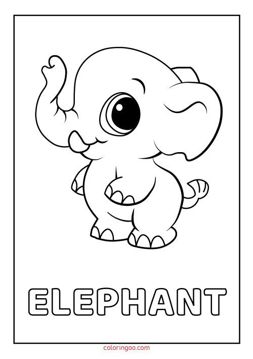 Elephant Printable Coloring Pages For Kids Cute Coloring Pages