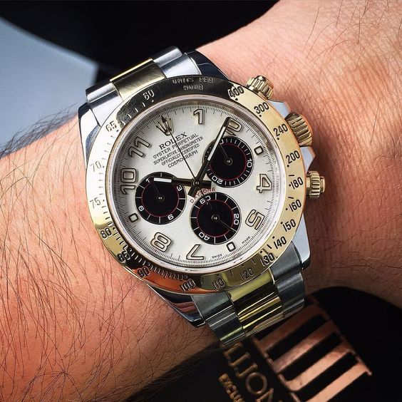 The #Rolex #Daytona #BiMetal with #Panda  Dial  Available to order now! Enquire on WhatsApp 44 7921 338836