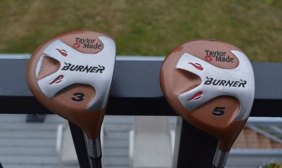 TaylorMade Burner 3 and 5 Wood Bubble Shaft S-90 Plus With Protective boots.  #TaylorMade