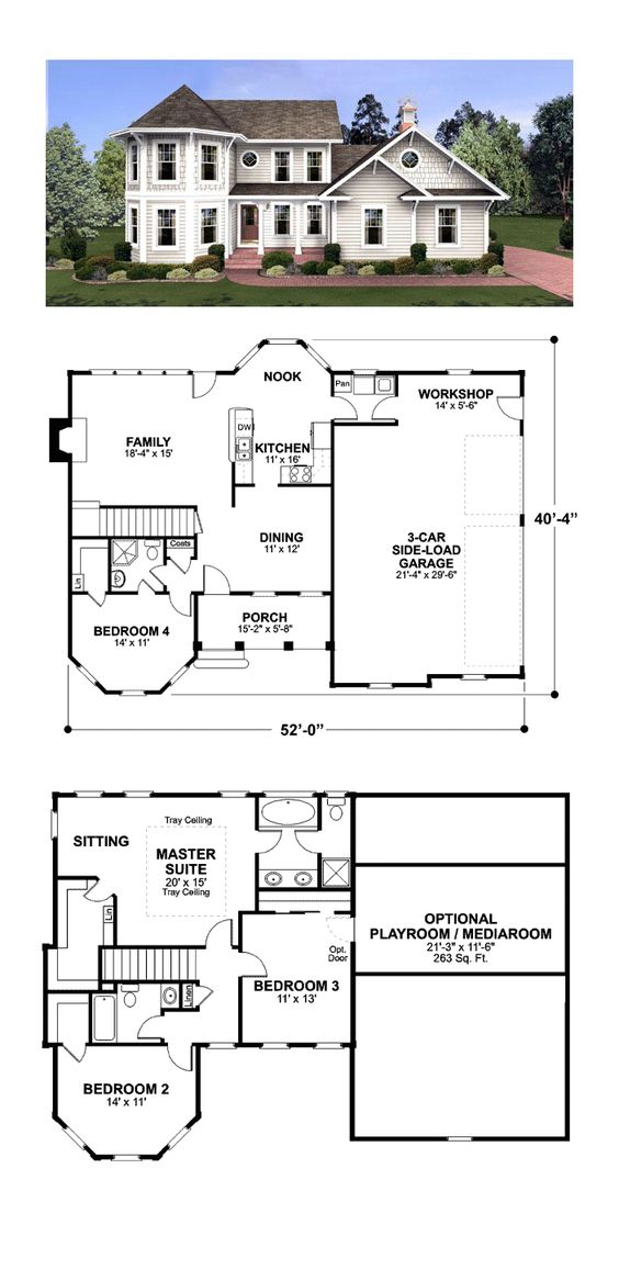colonial victorian house plan 92462