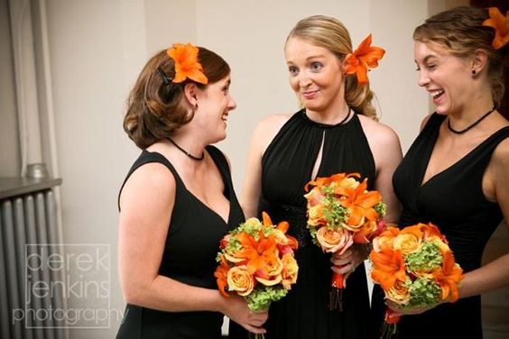 Fall Summer Green Orange Yellow Boutonniere Wedding Flowers Photos & Pictures - WeddingWire.com