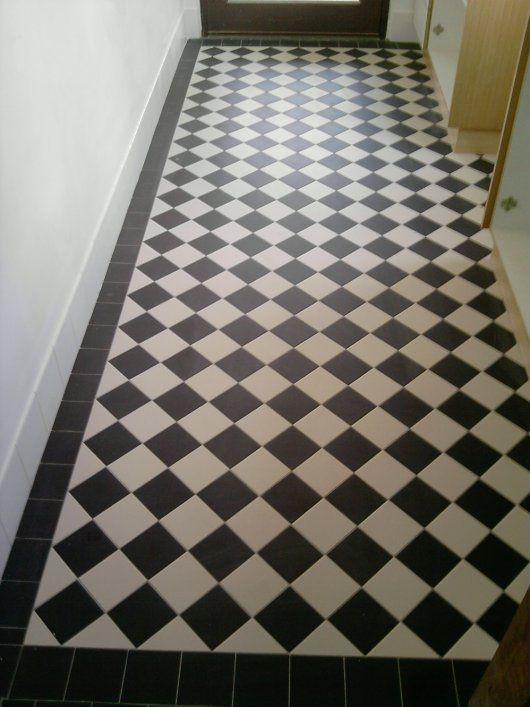 100x100 Black And White Checkerboard Black And White Hallway Black And White Tiles Hall Tiles