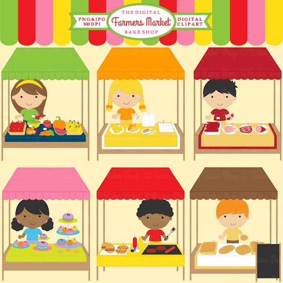 Clip Art Market Clipart farmers market clipart 13 graphics included cute for your creative projects