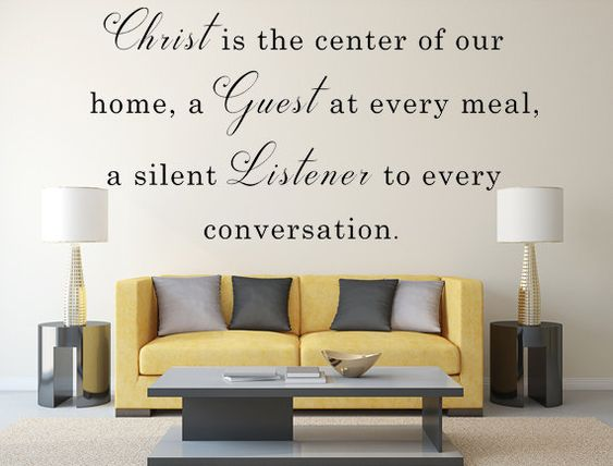 Christ Is The Center Of Our Home Vinyl Wall Decal Christian Wall - Custom vinyl wall decals christian