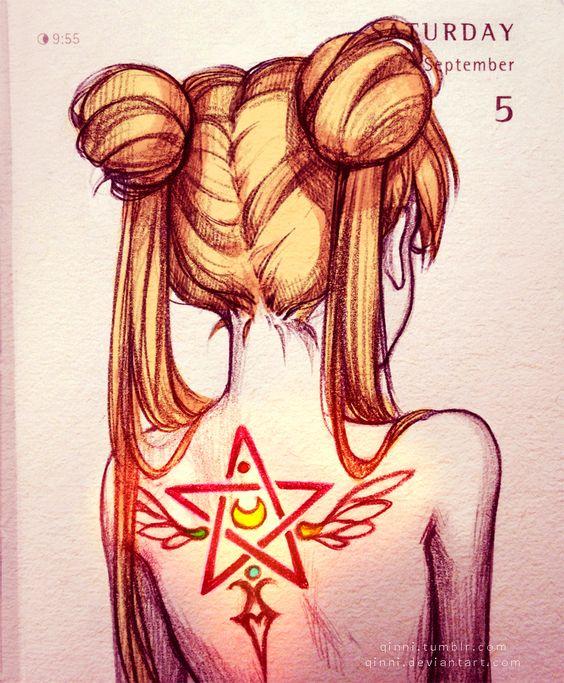 "qinni: "" Magical transformation tattoos~ on Deviantart | Instagram | Facebook """