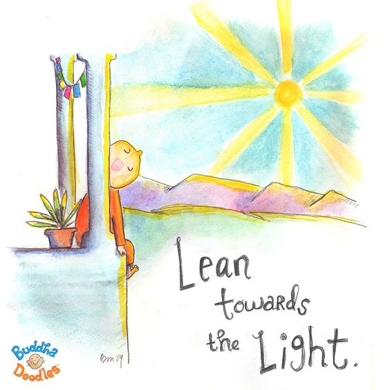 {Today's Doodle} hello sunshine :) Lean towards the LIght: