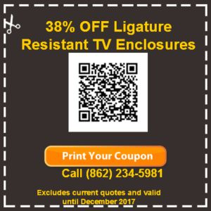 safe ligature resistant TV enclosure