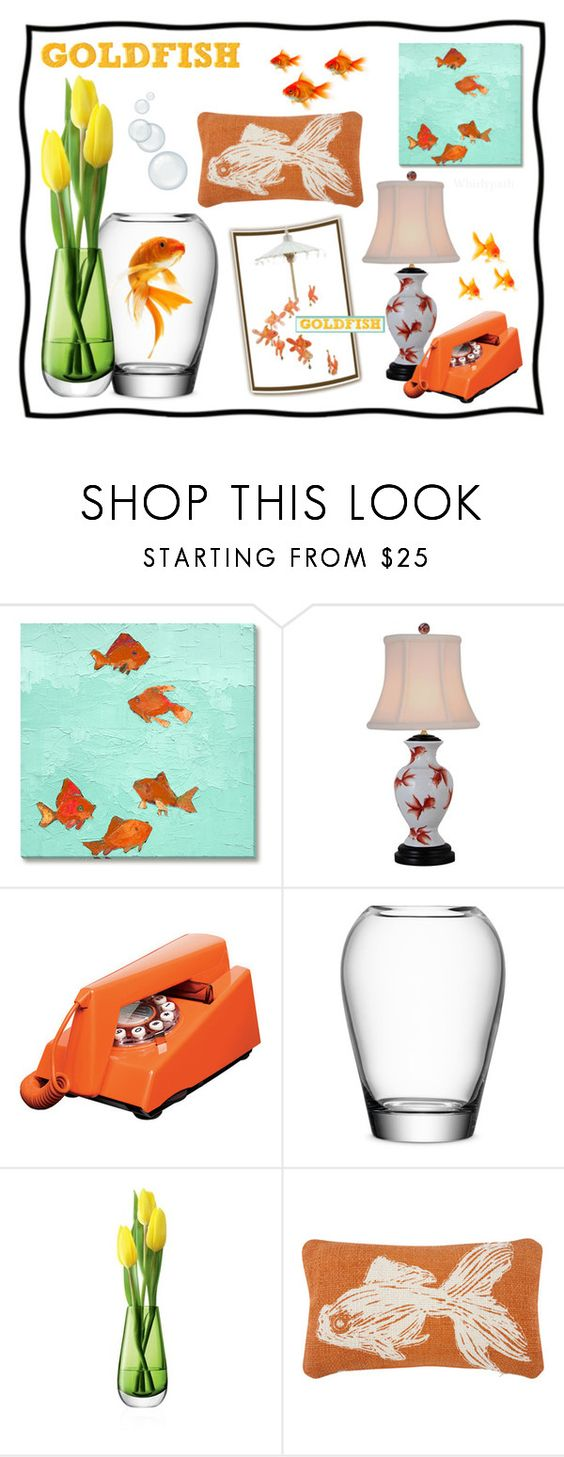"""GOLDFISH!"" by whirlypath ❤ liked on Polyvore featuring interior, interiors, interior design, home, home decor, interior decorating, Universal Lighting and Decor, Wild & Wolf, LSA International and Thomaspaul"