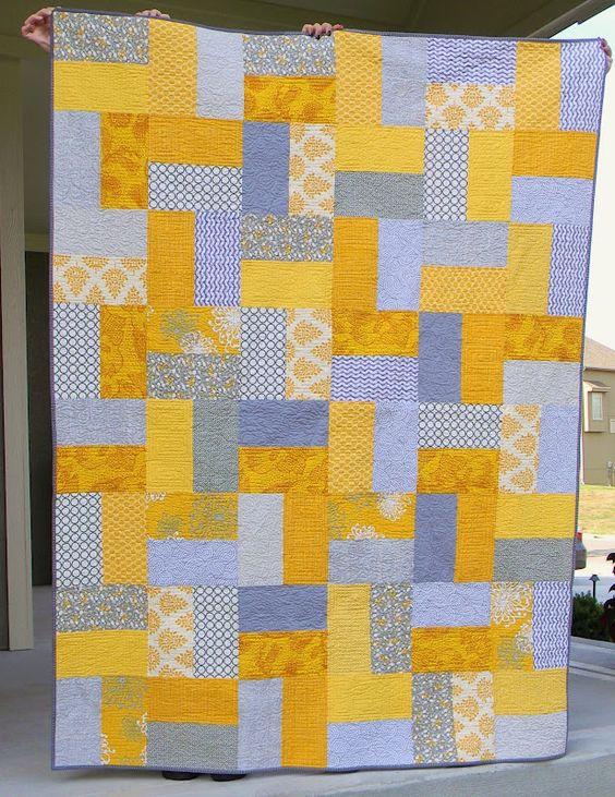 Teaginny Designs: Yellow and Gray Pinwheel: