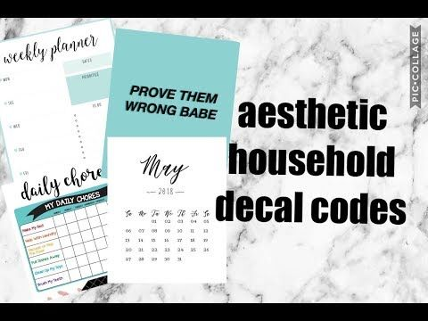 Aesthetic Household Picture Codes Planners Chores Calendars