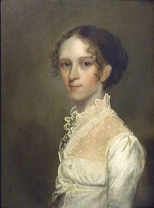 Portrait of a Woman in a White Dress by Unknown American, 19th century