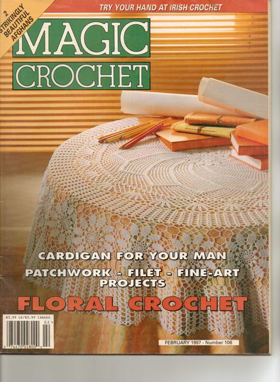Magic Crochet Floral Crochet Magazine Patterns by fancycrochet, $5.50