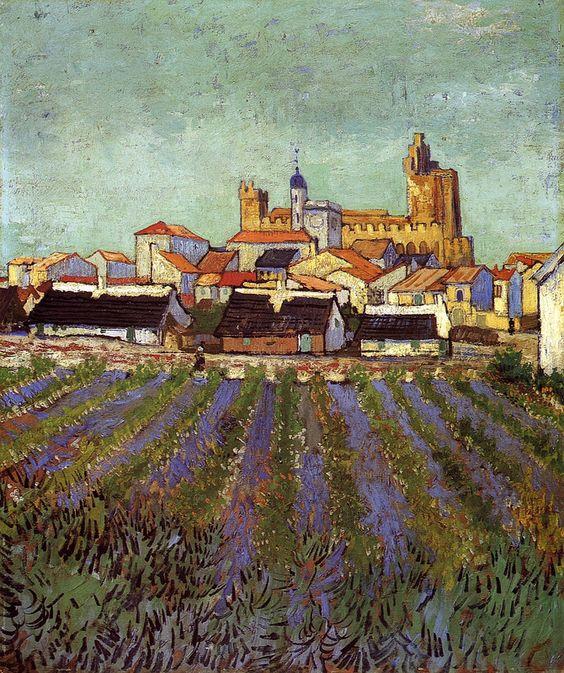 wasbella102:    Vincent van Gogh - View of Saintes-Maries