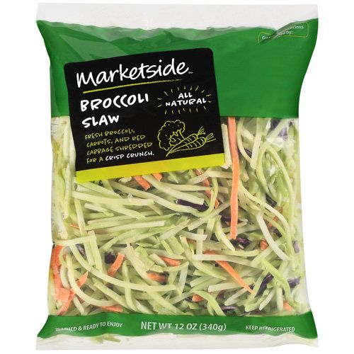 Marketside Broccoli Slaw, 12 oz Broccoli Slaw, Noodles and