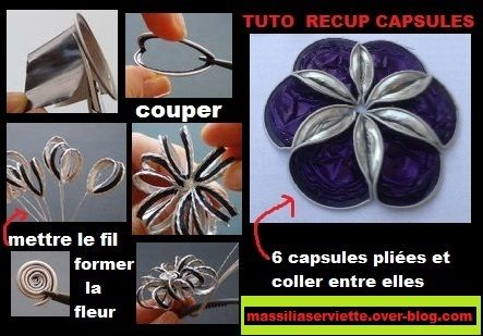 diy tuto flower fleur capsules nespresso r cup recycling recyclage capsules nespresso. Black Bedroom Furniture Sets. Home Design Ideas